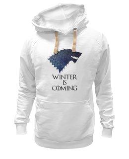 "Толстовка Wearcraft Premium унисекс ""Winter is coming (зима близко)"" - winter, зима, осень, девушке, парню, выделись из толпы, got, игра престолов, winter is coming, game of thrones"
