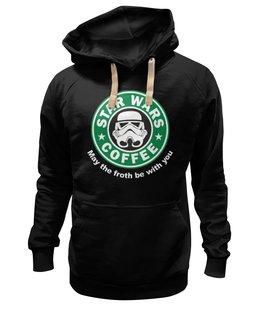 """Толстовка Wearcraft Premium унисекс """"Star Wars coffee"""" - прикольно, арт, стиль, популярные, мужская, рисунок, прикольные, в подарок, оригинально, футболка мужская"""