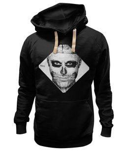 "Толстовка Wearcraft Premium унисекс ""Rick Genest"" - skull boy, zombie boy, rico the zombie, tattoo, рик дженест, тату, парень зомби"