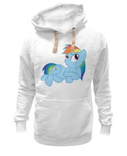 "Толстовка Wearcraft Premium унисекс ""Rainbow dash (my little pony)"" - популярные"