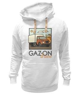 """Толстовка Wearcraft Premium унисекс """"GAZon drive"""" - водитель, газон, грузовик, дальнобойщик, некст"""