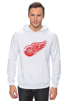 "Толстовка Wearcraft Premium унисекс ""Red Wings"" - хоккей, hockey, nhl, detroit, нхл, детройт, ред уингз"