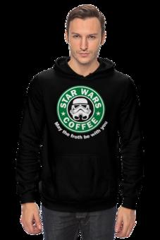 """Толстовка """"Star Wars coffee"""" - прикольно, арт, стиль, популярные, мужская, рисунок, прикольные, в подарок, оригинально, футболка мужская"""