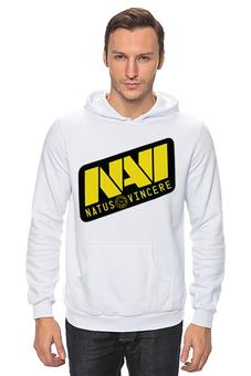 "Толстовка Wearcraft Premium унисекс ""Natus Vincere Logo (White)"" - игры, dota, dota 2, navi, natus vincere, дота, edward, киберспорт, dendi, markeloff"