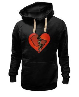 """Толстовка Wearcraft Premium унисекс """"Любовь """" - сердце, любовь, heart, patched heart"""
