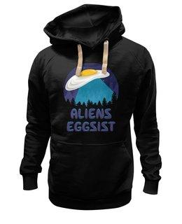 """Толстовка Wearcraft Premium унисекс """"НЛО инопланетяне """" - тарелка, яйца, чужие, секретные материалы, фокс малдер"""
