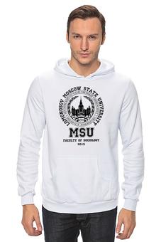 "Толстовка Wearcraft Premium унисекс ""МГУ(MSU)"" - мгу, msu"
