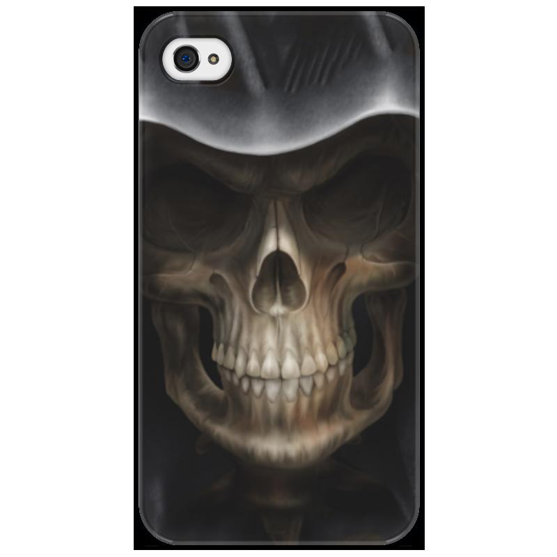 Чехол для iPhone 4/4S Printio Череп в капюшоне айфон 4s 8 гб дешево в москве белый