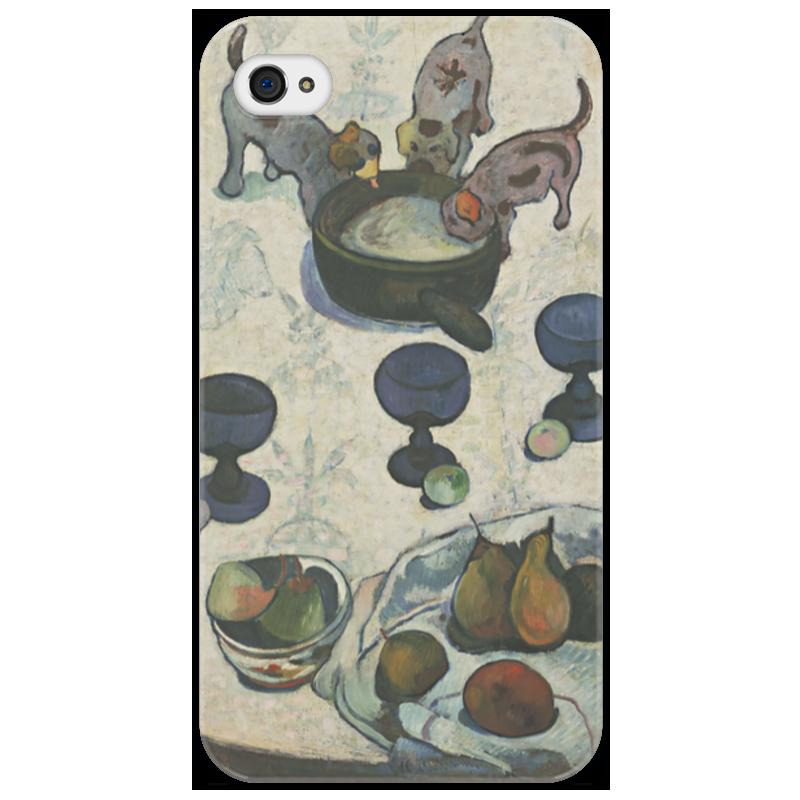 Чехол для iPhone 4/4S Printio Натюрморт с тремя щенками