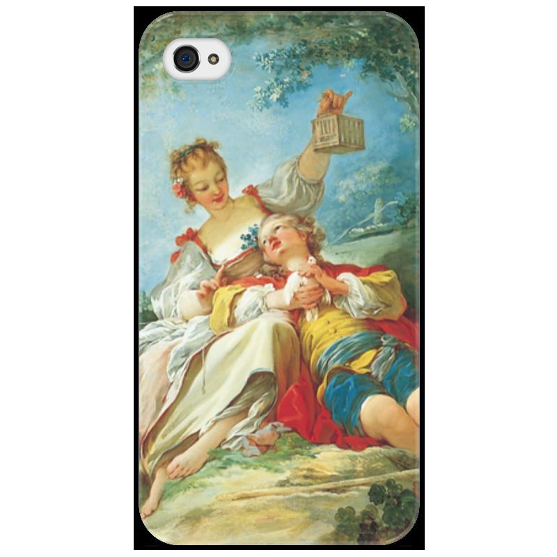 Чехол для iPhone 4/4S Printio Счастливые любовники айфон 4s 8 гб дешево в москве белый
