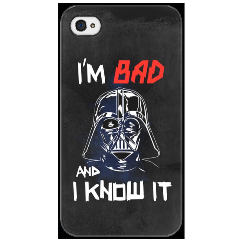 Чехол для iPhone 4/4S Printio I'm bad and i know it (starwars) banks and bad debts