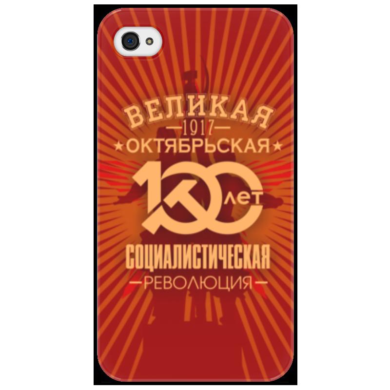 Чехол для iPhone 4/4S Printio Октябрьская революция коврик для мышки printio октябрьская революция