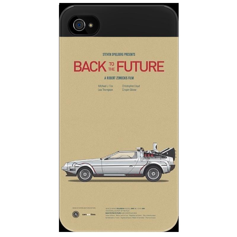 Чехол для iPhone 4/4S Printio Back to the future тетрадь на скрепке printio back to the future