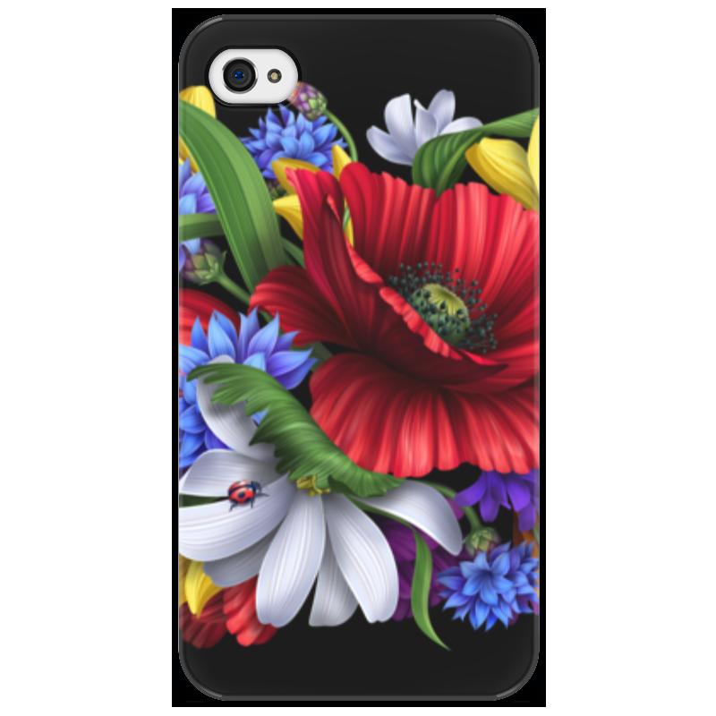 Чехол для iPhone 4/4S Printio Композиция цветов композиция из цветов и конфет