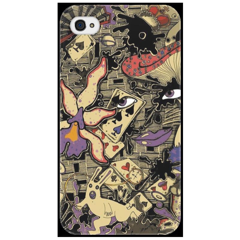 Чехол для iPhone 4/4S Printio Алиса в стране чудес