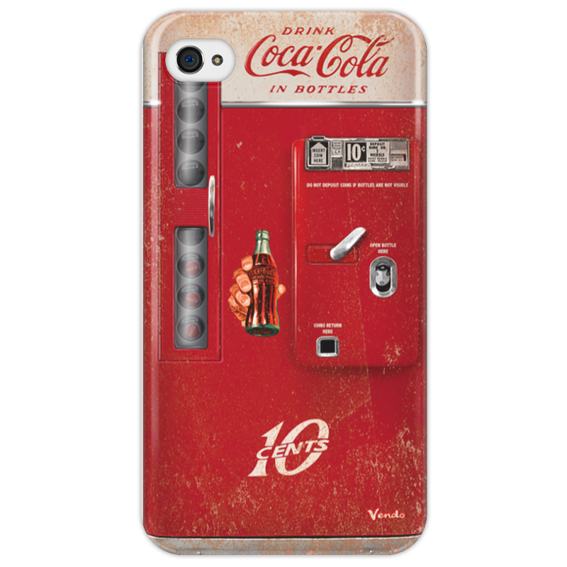 Чехол для iPhone 4/4S Printio Coca-cola vintage vending machine colibri стол coca cola