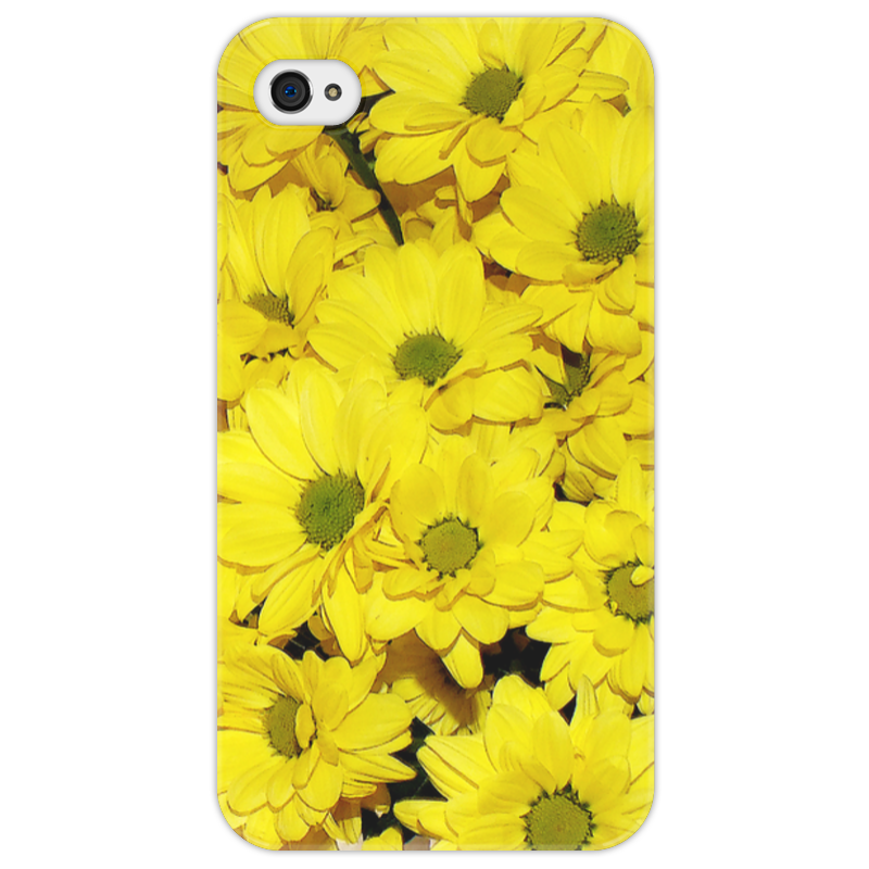 Чехол для iPhone 4/4S Printio Жёлтые хризантемы татьяна шпинькова белые хризантемы