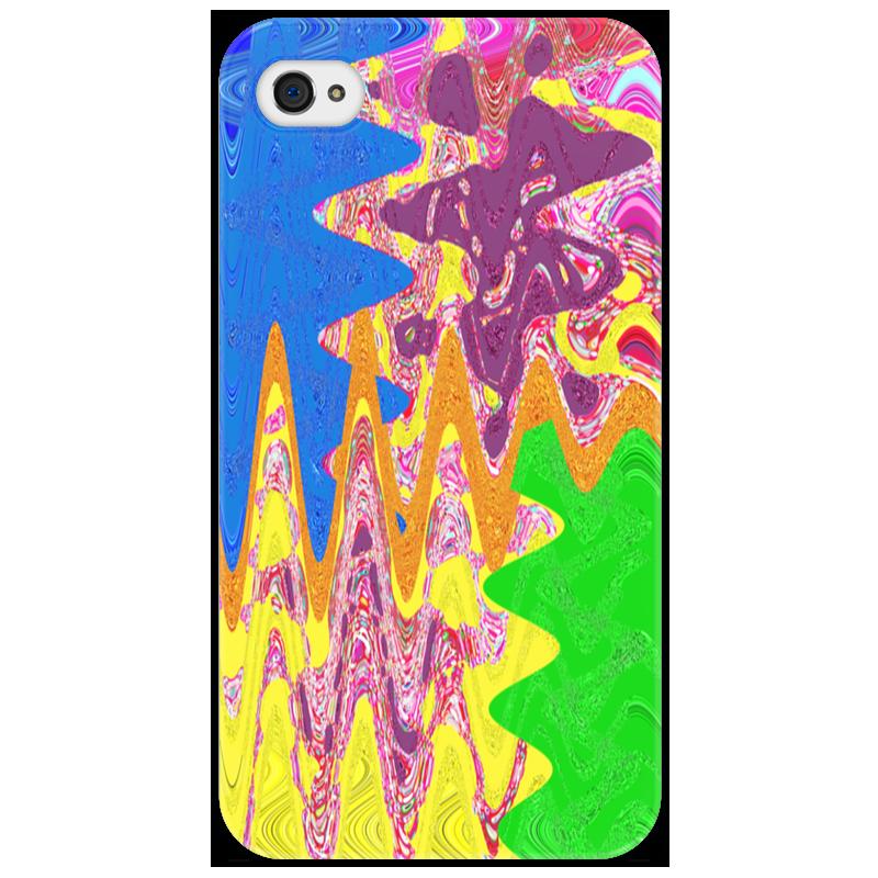 Чехол для iPhone 4/4S Printio Зигзаги айфон 4s 8 гб дешево в москве белый