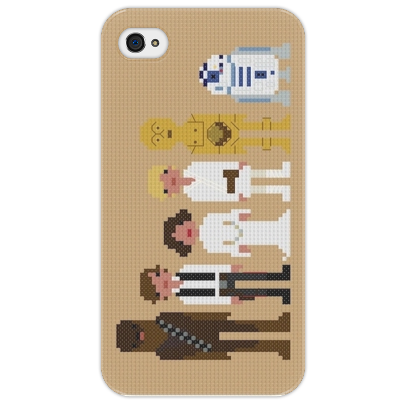 Чехол для iPhone 4/4S Printio Star wars pixel people iphone 7 proigryvaet google pixel v plavnosti raboty interfeisa