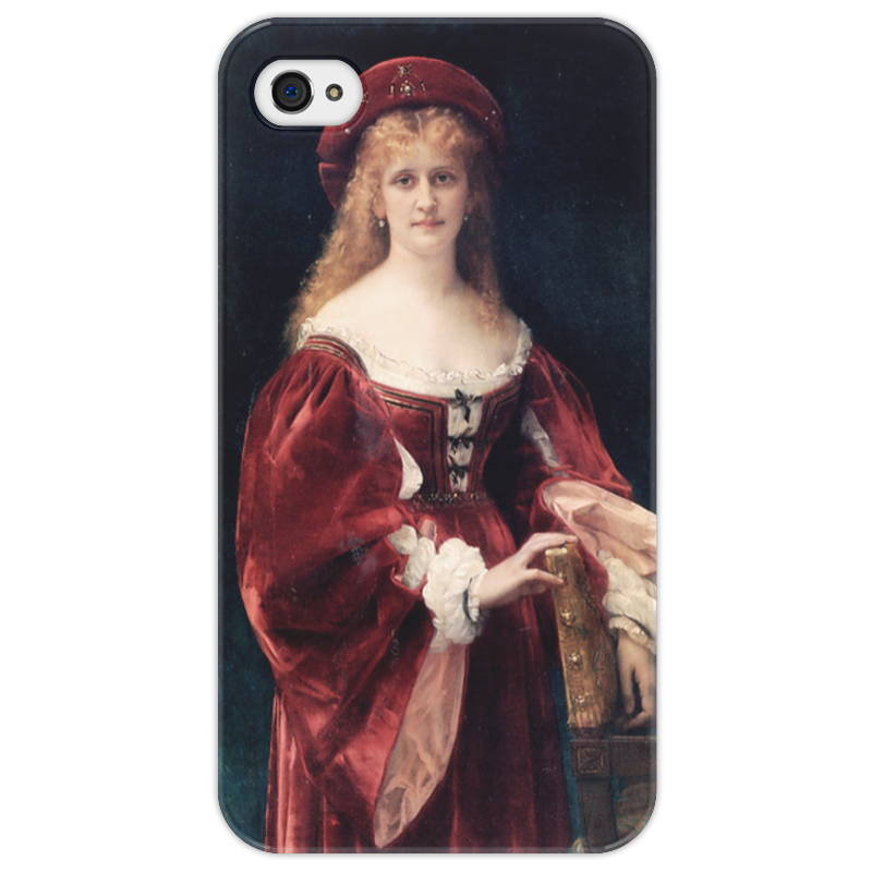 Чехол для iPhone 4/4S Printio Портрет аристократки из венеции прогулки по венеции