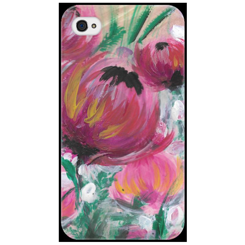 Чехол для iPhone 4/4S Printio Полевые цветы