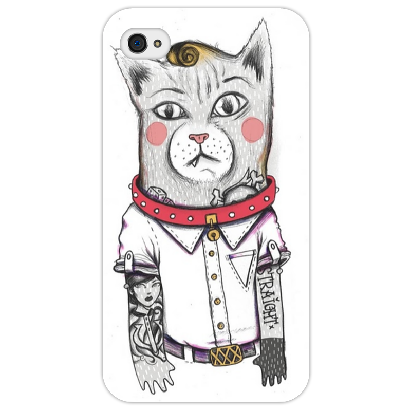 Чехол для iPhone 4/4S Printio Art кот iphone 4 б у в новомосковске