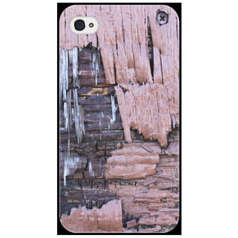 Чехол для iPhone 4/4S Printio Деревянный
