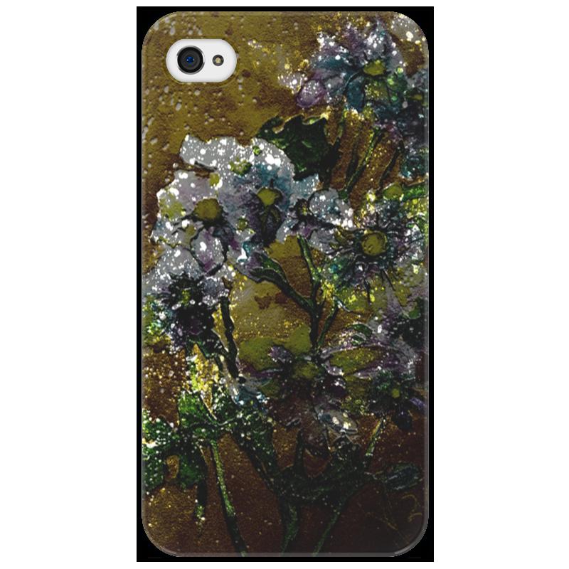 Чехол для iPhone 4/4S Printio Белые хризантемы на золотом фоне татьяна шпинькова белые хризантемы