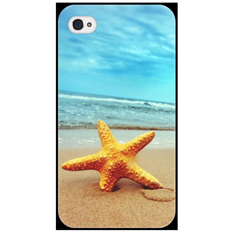 Чехол для iPhone 4/4S Printio Морская звезда чисто позолоченные бусины горный хрусталь серьги морская звезда морская звезда стержня уха