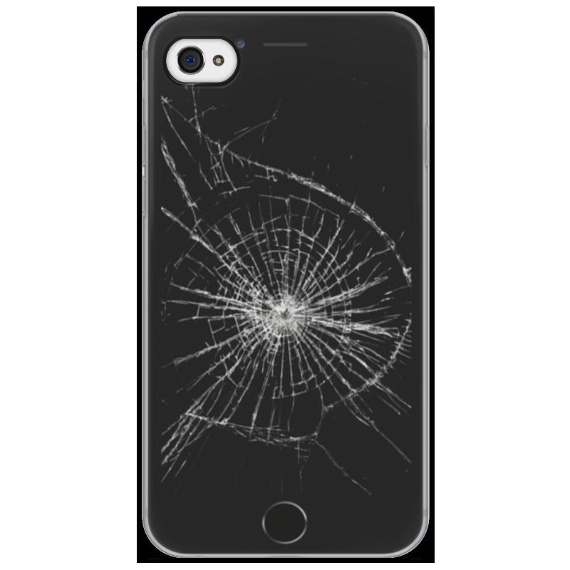 Чехол для iPhone 4/4S Printio Разбитый экран купить экран для iphone 4