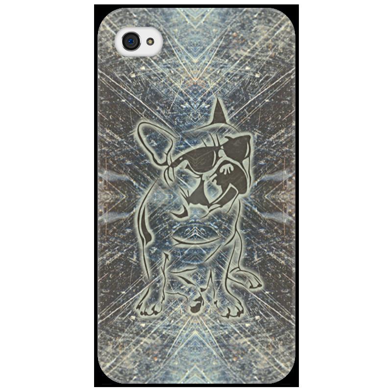 Чехол для iPhone 4/4S Printio Doggy айфон 4s 8 гб дешево в москве белый