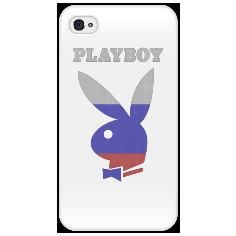 цена на Чехол для iPhone 4/4S Printio Playboy россия