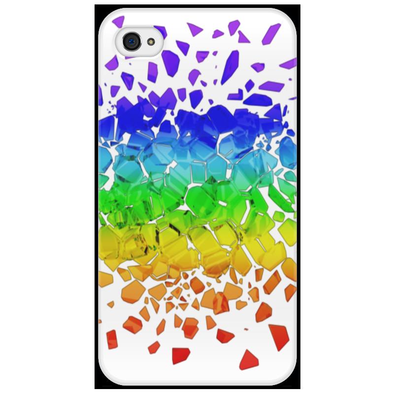 Чехол для iPhone 4/4S Printio Broken rainbow стоимость