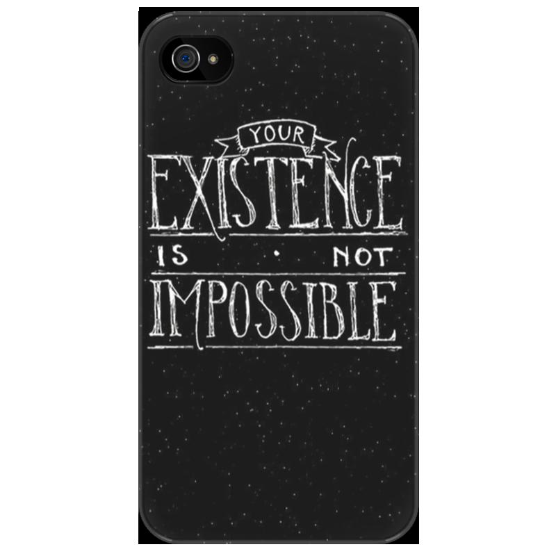 Чехол для iPhone 4/4S Printio ваше существование не допускается чехол для iphone 4 4s printio не беспокоить