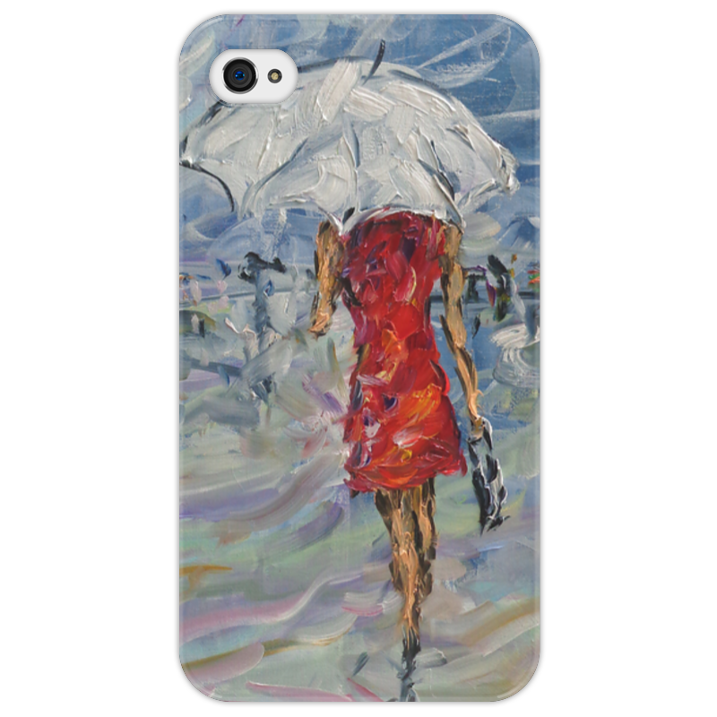 Чехол для iPhone 4/4S Printio Девушка в красном куплю еврозаборы в красном луче