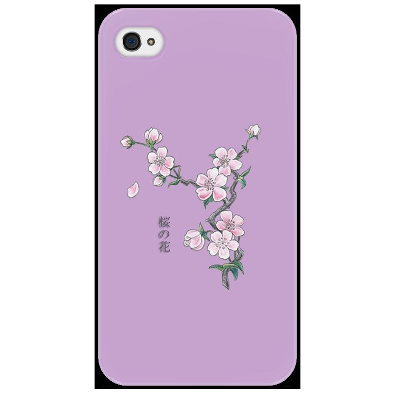 Чехол для iPhone 4/4S Printio Японская сакура как распила из японии на запчасти