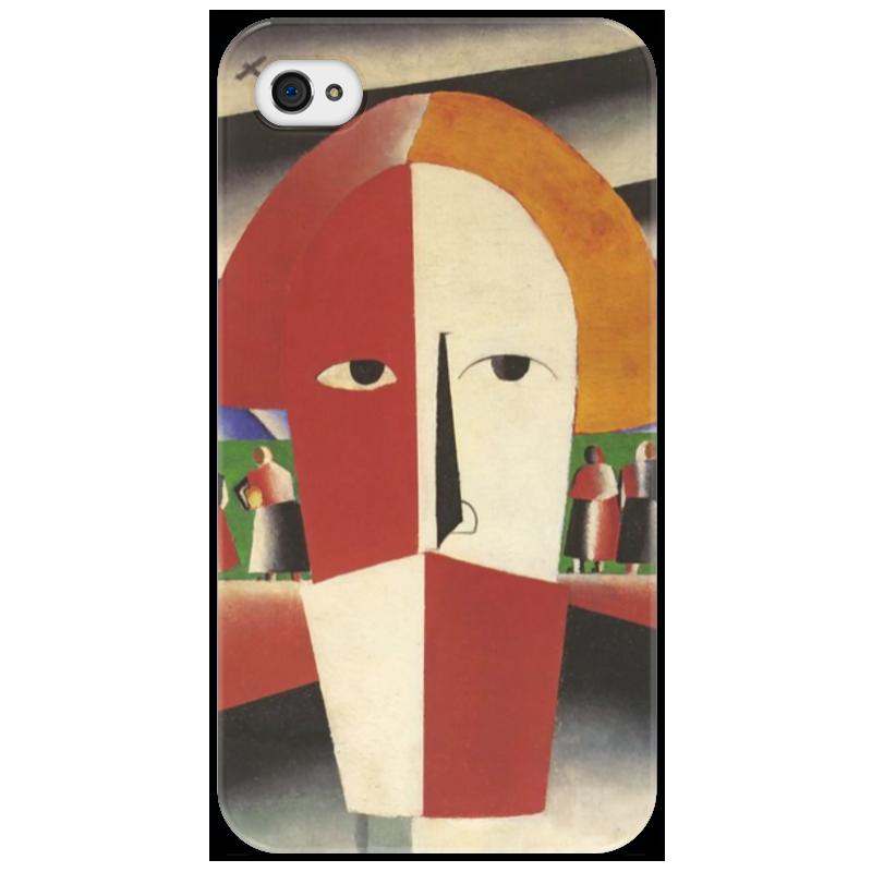 Чехол для iPhone 4/4S Printio Голова крестьянина (казимир малевич)