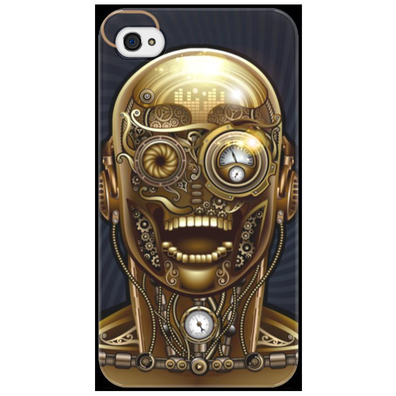 Чехол для iPhone 4/4S Printio Стимпанк-голова чехол для iphone 4 4s printio цветочный череп