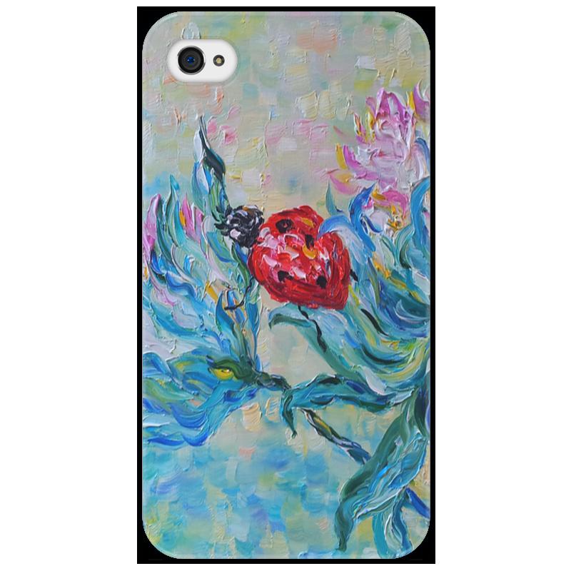 Чехол для iPhone 4/4S Printio Божья коровка iphone 4 18 900