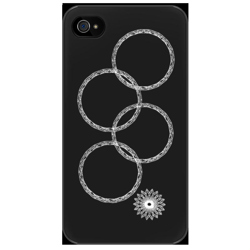 Чехол для iPhone 4/4S Printio Нераскрывшееся кольцо (снежинка) iphone 4s самый дешевый в москве