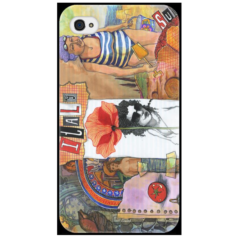 Чехол для iPhone 4/4S Printio Италия лето италия