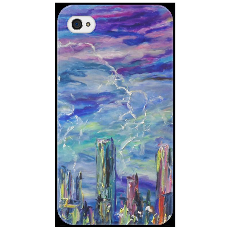 Чехол для iPhone 4/4S Printio Молния стоимость