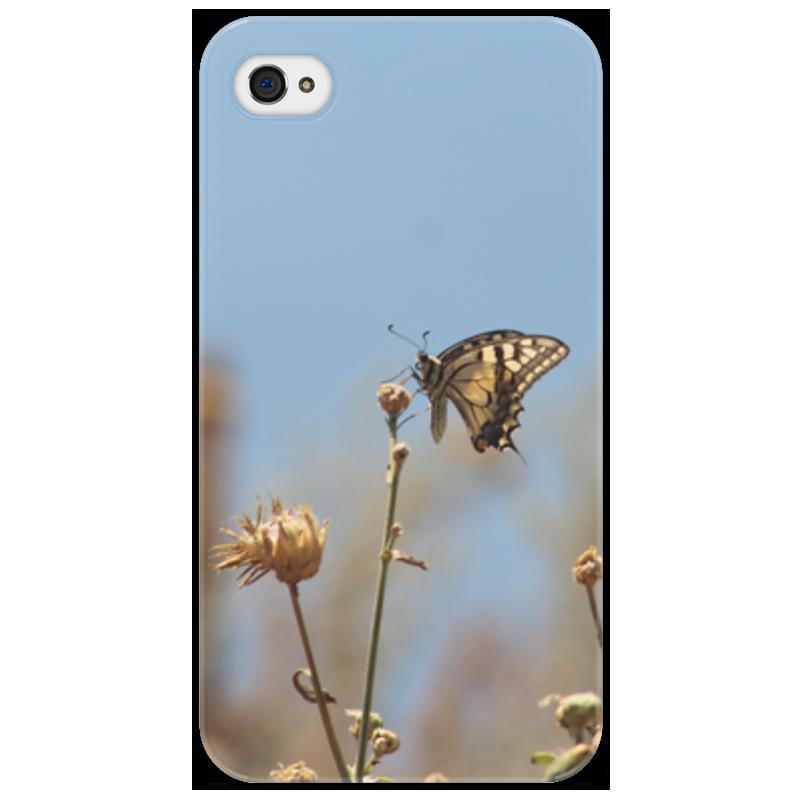 Чехол для iPhone 4/4S Printio Бабочка махаон