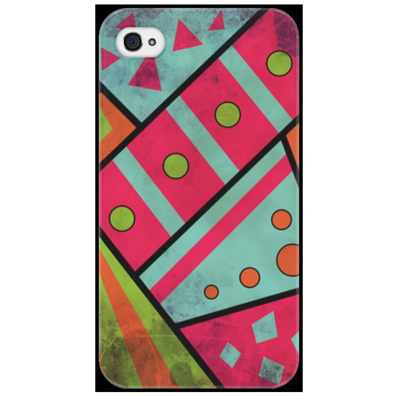 Чехол для iPhone 4/4S Printio Яркая геометрия стоимость