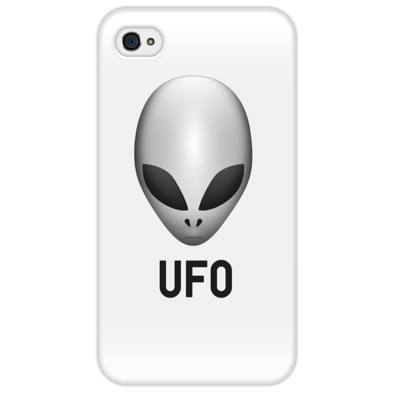 Чехол для iPhone 4/4S Printio Пришелец ufo айфон 4s 8 гб дешево в москве белый