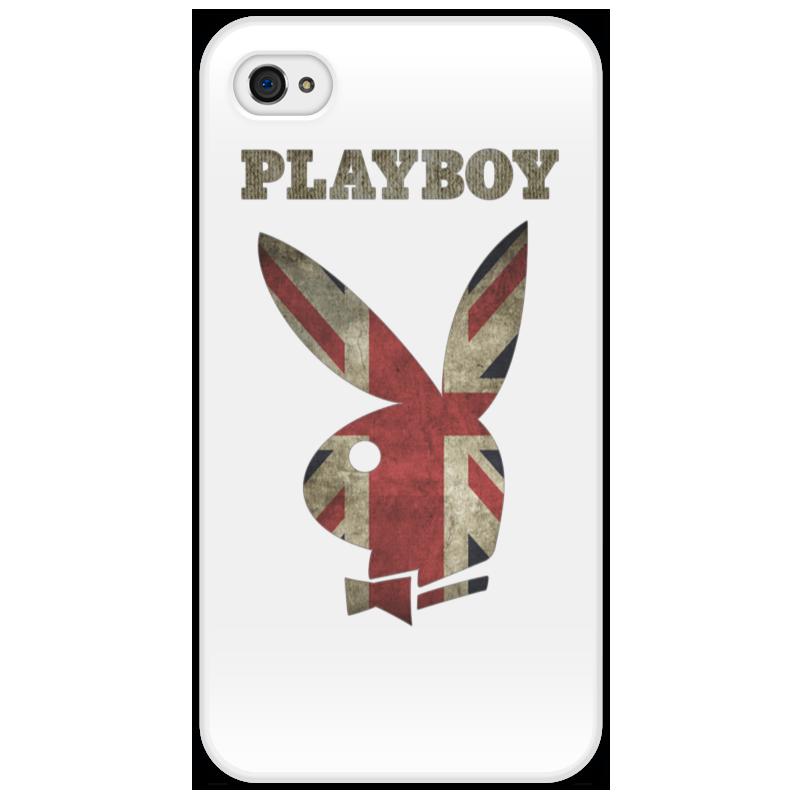 Чехол для iPhone 4/4S Printio Playboy британский флаг стоимость