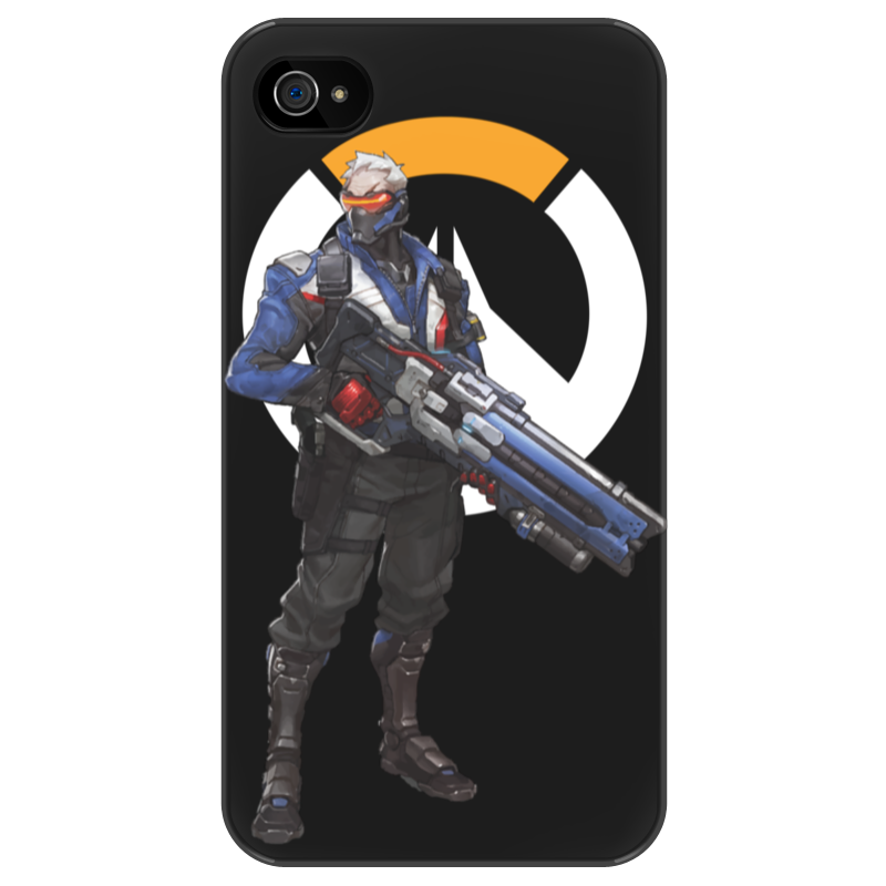 Чехол для iPhone 4/4S Printio Overwatch soldier 76 / овервотч солдат 76