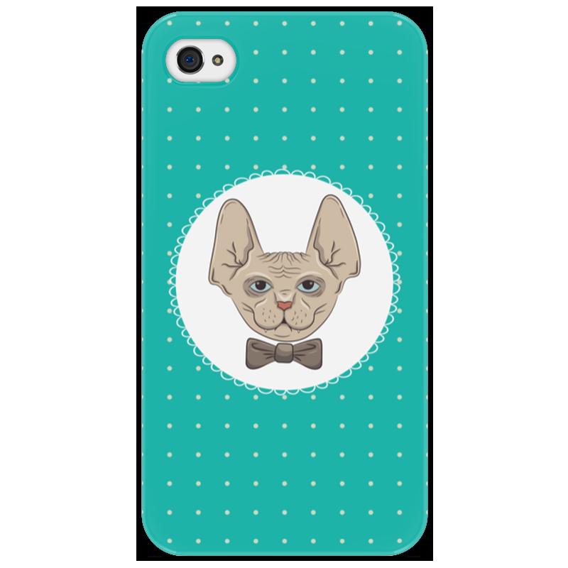 Чехол для iPhone 4/4S Printio Кот сфинкс айфон 4s 8 гб дешево в москве белый