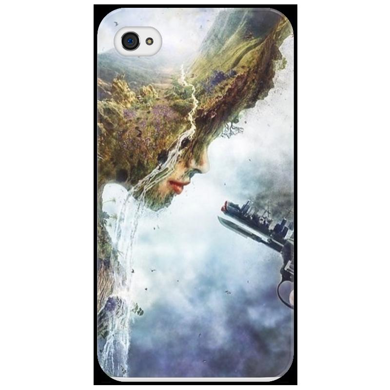 Чехол для iPhone 4/4S Printio Человек против природы что можно против клопов