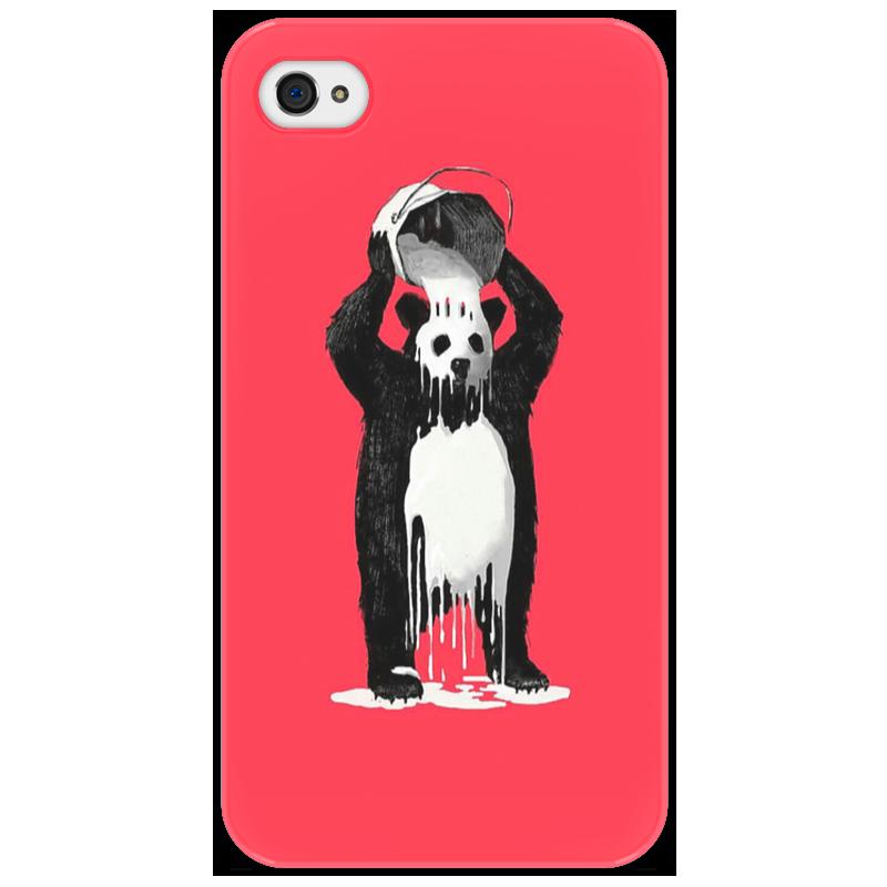 Чехол для iPhone 4/4S Printio Панда в краске айфон 4s 8 гб дешево в москве белый